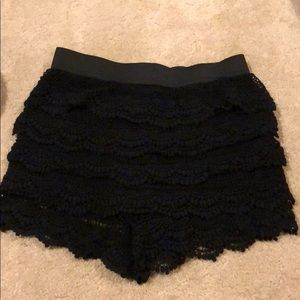 Lacy crochet/knit shorts
